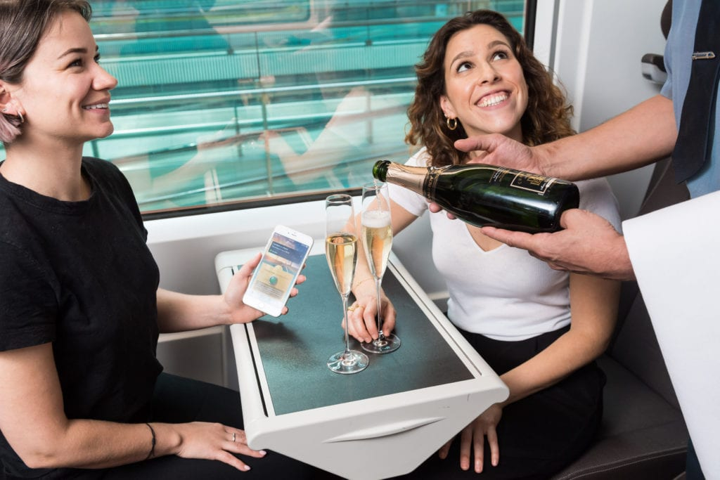 Eurostar launches champagne app