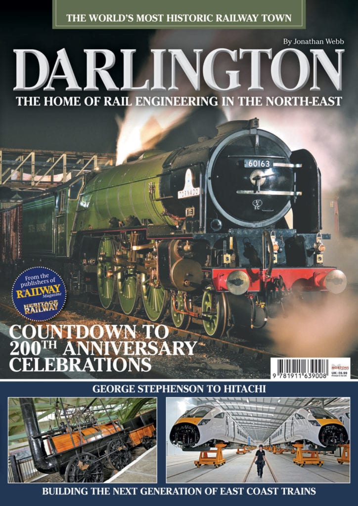 The cover of Darlington, the brand new bookazine on how 60163 Tornado put the town back on the locomotive map.