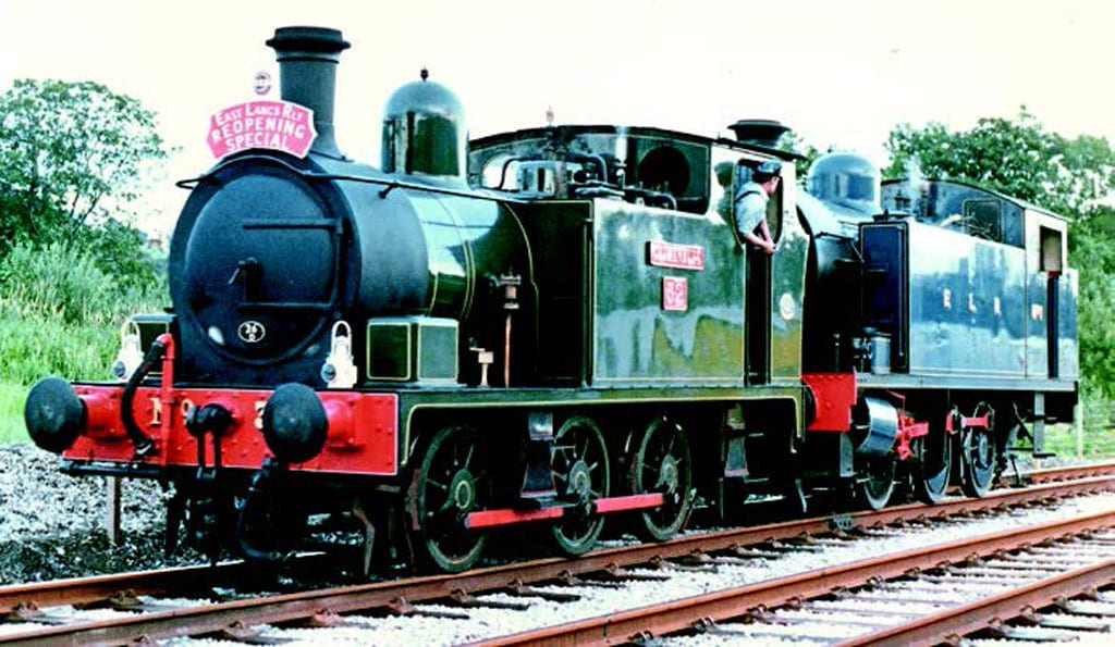 The two locomotives used for the reopening service from Bury to Ramsbottom on July 25, 1987, were ex-Manchester Ship Canal 0-6-0T No. 32 Gothenburg and former Meaford Power Station 0-6-0T ELR No. 1. Photo: Peter Duncan