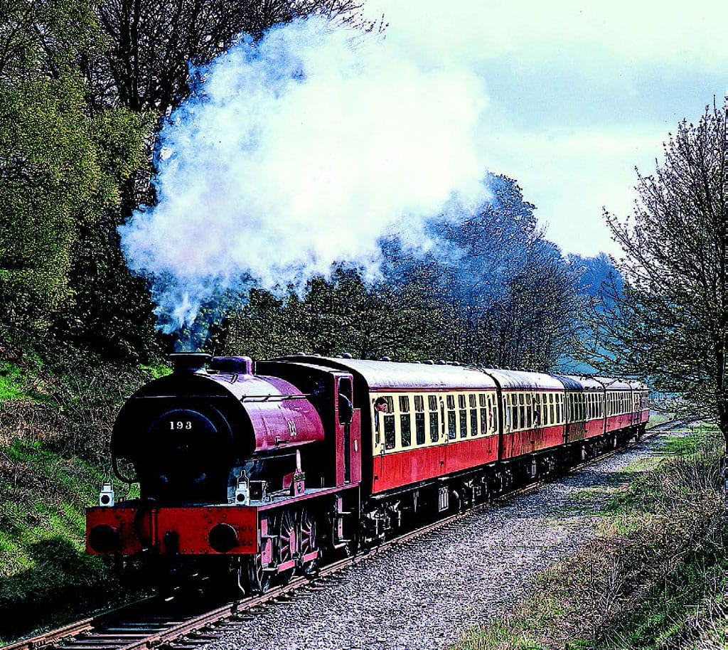 Austerity 0-6-0ST No. 193 Shropshire arrived on the railway in 1989 and worked on the railway for a number of years. The locomotive approaches Summerseat  with a Bury to Rawtenstall service on May 5, 1991, during the ELR's second weekend of passenger operations through to Rawtenstall. Photo: Mike Taylor