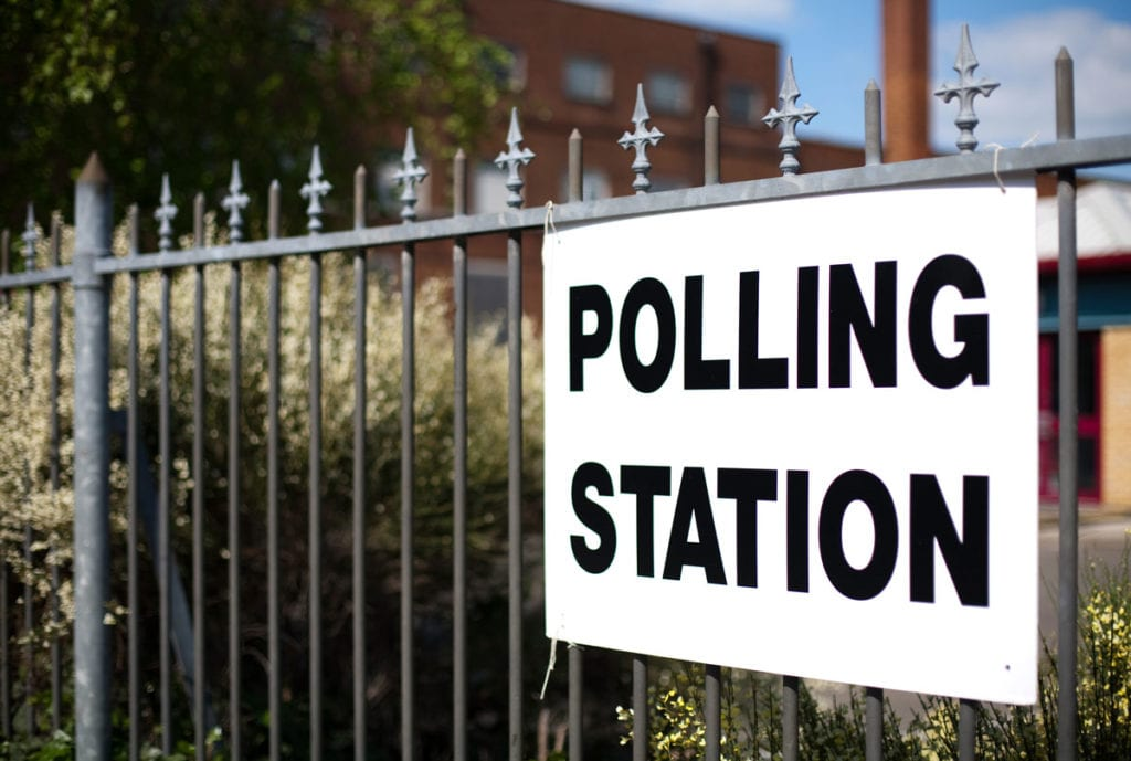 Election 2019, image of a polling station.