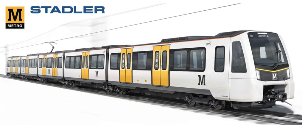 Stadler to build new Tyne & Wear Metro trains