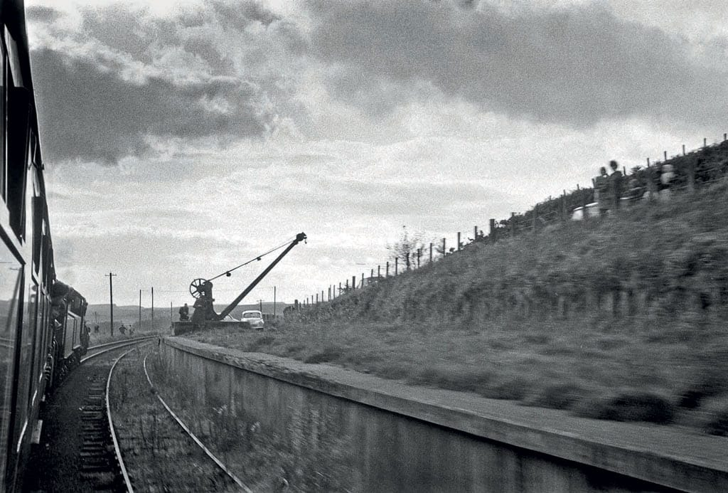 The Wansbeck Piper' passes Knowesgate station, where the loading bay and an old crane still remained.