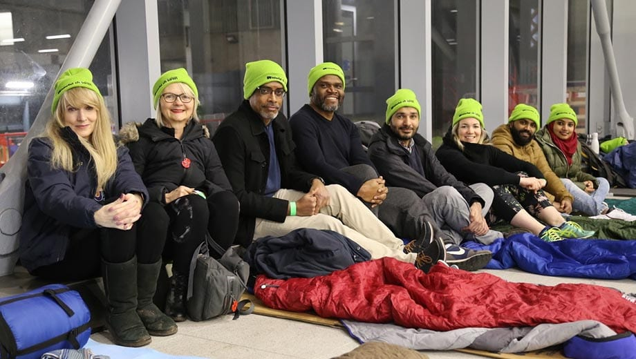 Railway Children sleepout volunteers