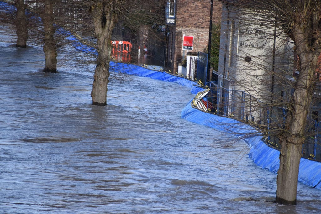 Flooding in River Severn, Shrewsbury