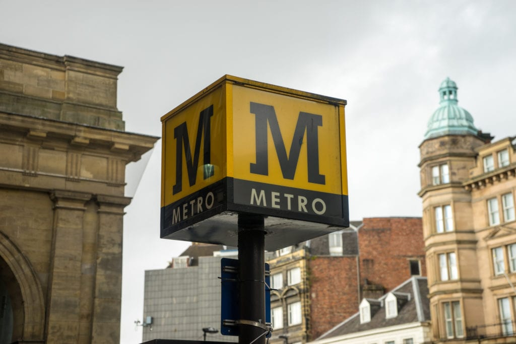 Metro sign post