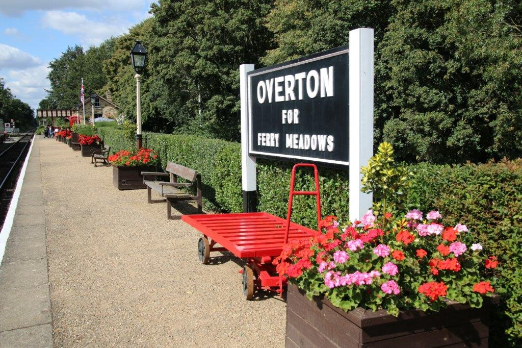The grounds of the Nene Valley Railway's Overton station are smartly maintained, as seen here on September 8, 2019. GARETH EVANS