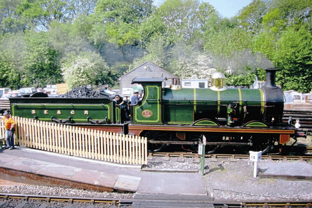 SECR O1 0-6-0 No. 65 simmers at Kingscote in 2004.