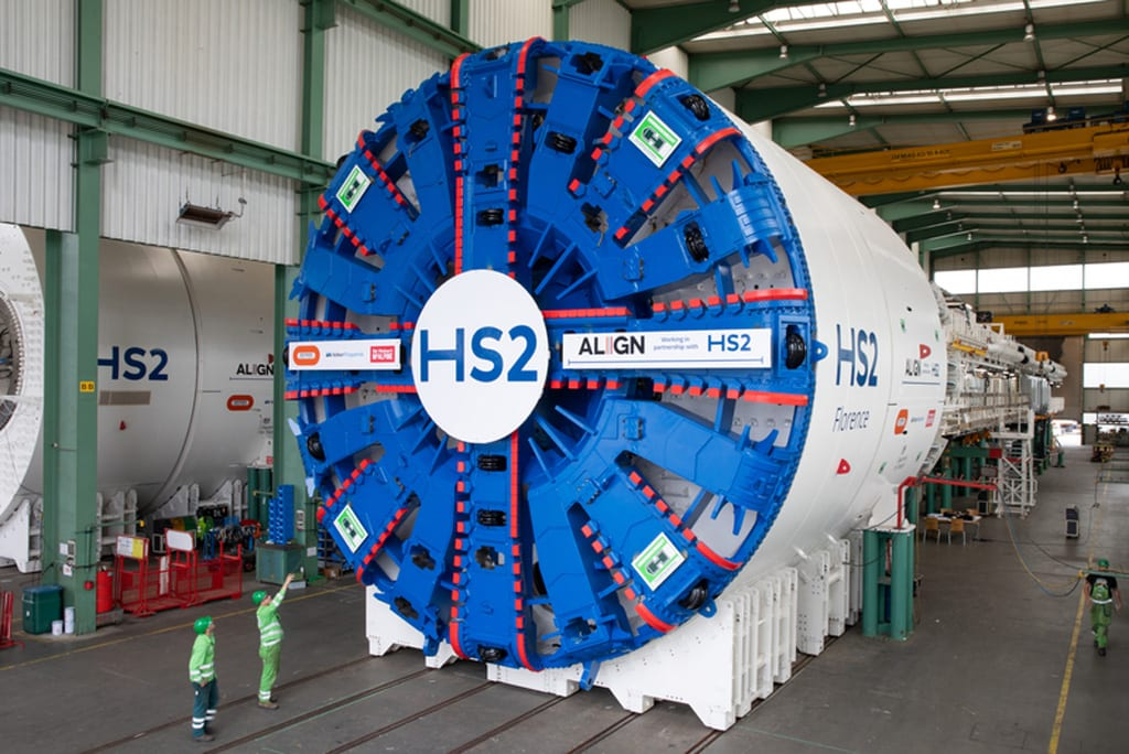 HS2 giant tunnelling machines