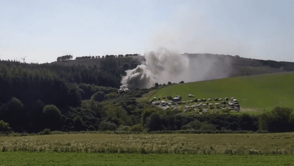 The scene near Stonehaven. Photo: STV News