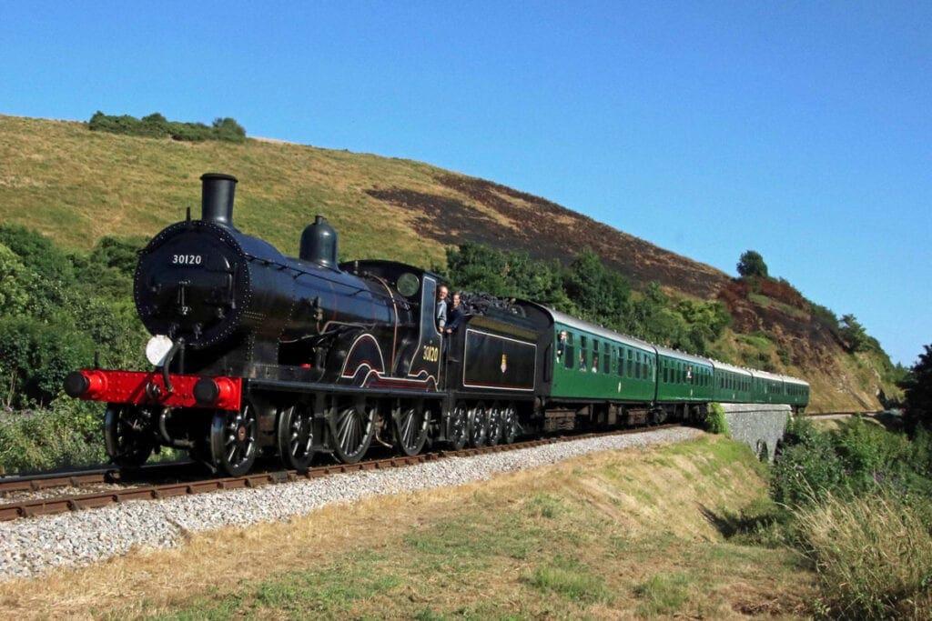 T9 30120 Corfe Castle Swanage Railway.