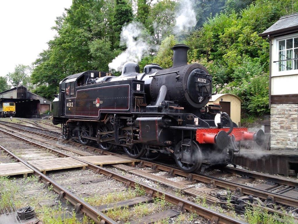 Ahead of entering public service, No. 41312 went out on a light engine test run on the afternoon of July 3. The 2-6-2T is pictured at Bodmin General. MAT SIMPSON/BWR